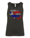 BEAUTIFUL WONDERFUL PERFECT ALL AMERICAN GIRL Youth Graphic Tank