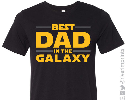 BEST DAD IN THE GALAXY Graphic Triblend Tee River Imprints