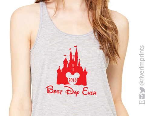 BEST DAY EVER 2018 Flowy Vacation Tank