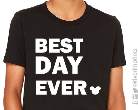 BEST DAY EVER Vacation Triblend Tee River Imprints