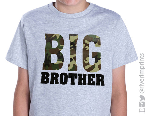 Toddler BIG BROTHERS CAMO boys toddler tee shirt