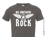 BIG BROTHERS ROCK Toddler Cotton Tee by River Imprints