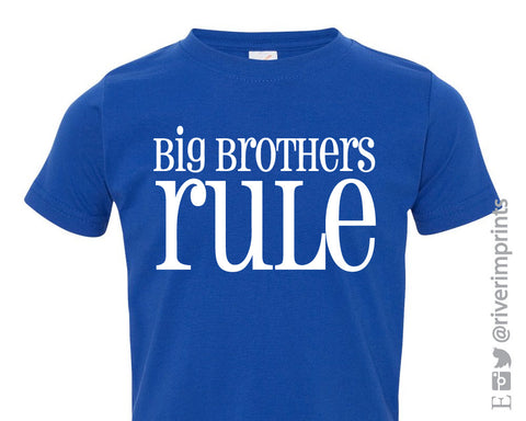 BIG BROTHERS RULE Toddler Cotton Tee by River Imprints