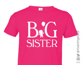 BIG SISTER Toddler Cotton Tee by River Imprints