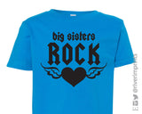 BIG SISTERS ROCK Toddler Cotton Tee by River Imprints