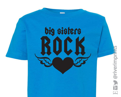 Toddler BIG SISTERS ROCK, girls toddler tee shirt