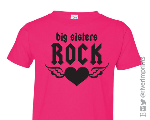Youth BIG SISTERS ROCK, youth girls tshirt