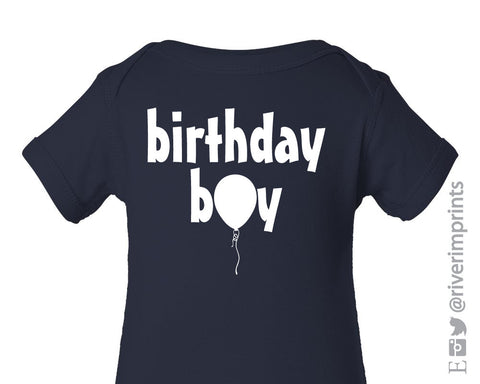 BIRTHDAY BOY Toddler Cotton Tee by River Imprints