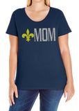 BOY SCOUT MOM Glittery Curvy Collection Woman's Scoopneck Tee