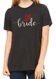 BRIDE Glittery Hearts Triblend T-shirt River Imprints