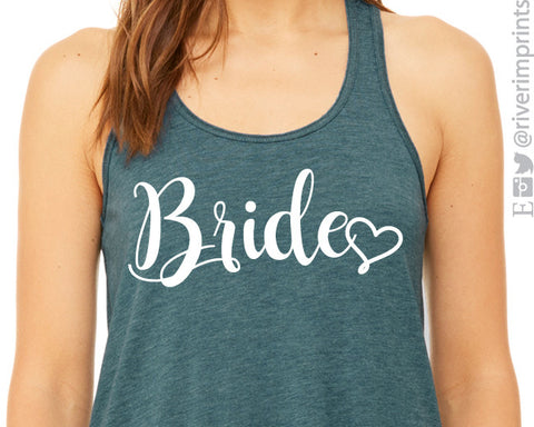 BRIDE WITH HEART Flowy Tank