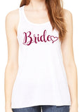 BRIDE WITH HEART Glittery Flowy Tank