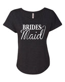 BRIDESMAID HEART Ladies Dolman T-shirt