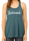 BRIDESMAID WITH HEART Flowy Tank