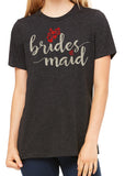 BRIDESMAID Glittery Hearts Triblend T-shirt River Imprints