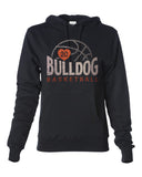 MASCOT BASKETBALL Personalized Glittery Midweight Hooded Sweatshirt