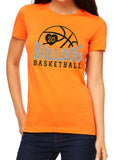 MASCOT BASKETBALL Personalized Glittery Cotton Tee