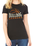 BASKETBALL GRANDMA Personalized Glittery Cotton Tee