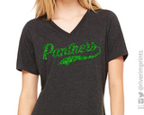 PANTHERS Glittery V-neck Triblend Tee
