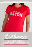 I RUN FOR BACON Shiny Performance Tee
