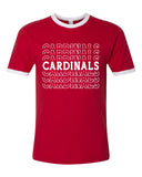 CARDINAL School Mascot Graphic Ringer Tee