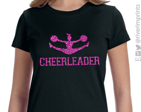 CHEERLEADER Glittery Youth Cotton Tee River Imprints
