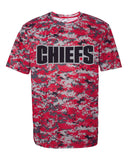 CHIEFS Digital Camo Youth Chief School Mascot Performance Tee Shirt