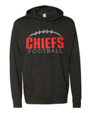 CHIEFS FOOTBALL Hoodie Glittery Chief School Mascot Midweight Hooded Sweatshirt