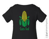 CORN FED Graphic Cotton Onesie or Tee by River Imprints