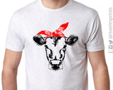 COW BANDANA Triblend Sublimation Tee