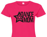 SALE - DANCE MOM, glittery semi-fitted sparkle tee shirt