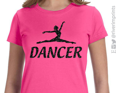 DANCER Glittery Youth Cotton Tee River Imprints
