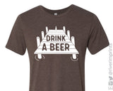 DRINK A BEER triblend graphic tee