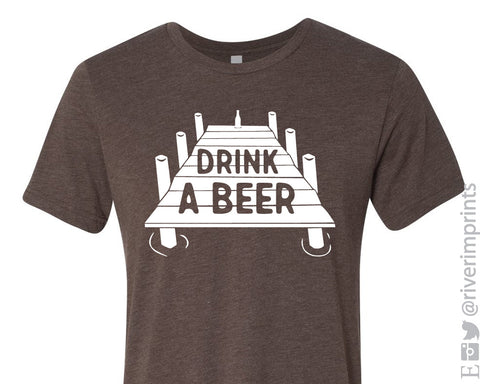 DRINK A BEER Graphic Triblend Tee River Imprints