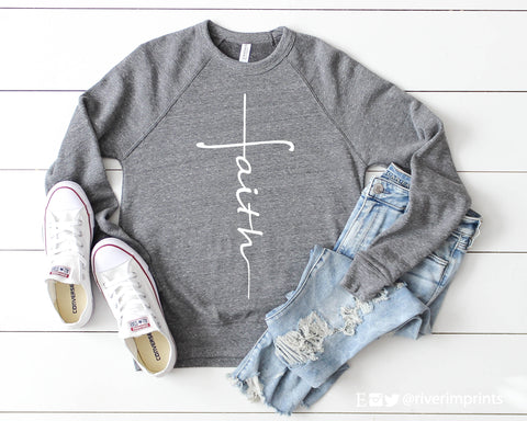FAITH Graphic Fleece Raglan Sweatshirt