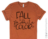 Fall is my Favorite Color Graphic Blend Tee