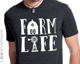 FARM LIFE triblend graphic t-shirt