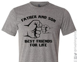 FATHER AND SON, BEST FRIENDS FOR LIFE Triblend Tee by River Imprints