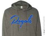 ROYALS Glittery Hooded Sweatshirt or Tee
