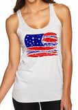 FEATHER FLAG Triblend Sublimation Tank