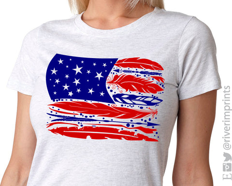 FEATHER FLAG Sublimated Triblend Tee
