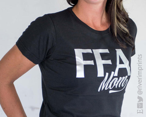 FFA MOM, shiny foil tee shirt