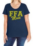 FFA MOM Glittery Curvy Collection Woman's Scoopneck Tee