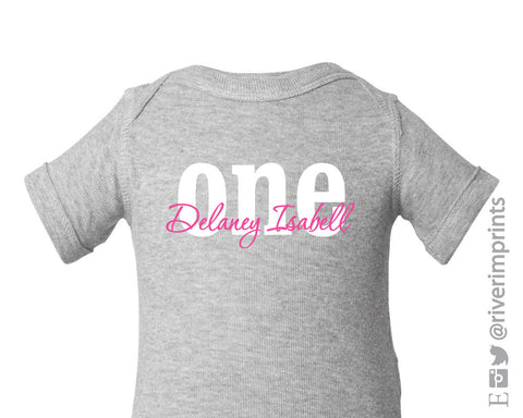 ONE Personalized Cotton Onesie or Tee