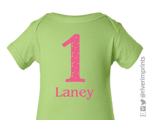 ONE First Birthday Personalized Cotton Onesie or Tee