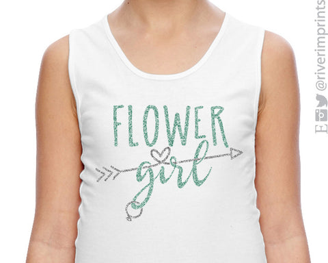 FLOWER GIRL Glittery 2-color Girls Tank