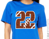FOOTBALL Personalized Football Number Tee