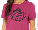 FOOTBALL MIMI Triblend Floral Graphic Tee