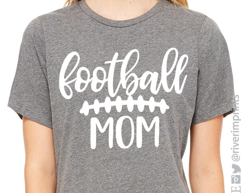 FOOTBALL MOM Graphic Triblend Tee by River Imprints