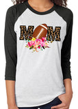 FOOTBALL MOM Sublimated Triblend Raglan Tee by River Imprints